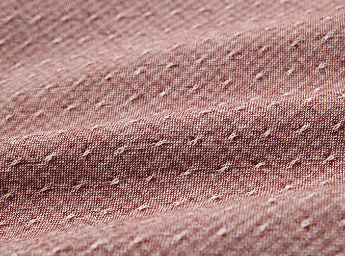 byhands 100% Cotton Yarn Dyed Fabric, Royal Dobby Check Pattern, Brick (EY20086-H)