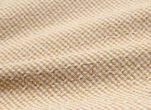 byhands 100% Cotton Yarn Dyed Fabric, Royal Dobby Check Pattern, Yellow Beige (EY20086-J)