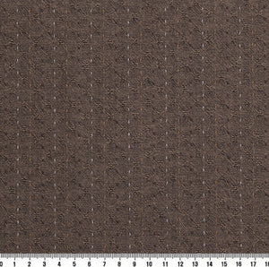 byhands 100% Cotton Yarn Dyed Fabric - Line Stitch Pattern, Taupe (EY20089-D)