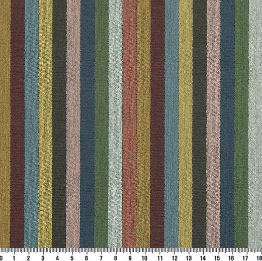 byhands 100% Cotton Yarn Dyed Fabric - Multi Stripe Pattern, Evergreen Tone (EY20091-D)