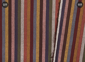 byhands 100% Cotton Yarn Dyed Fabric - Multi Stripe Pattern, Chestnut Tone (EY20091-G)