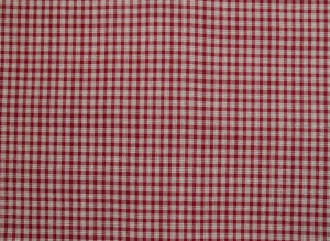 byhands 100% Cotton Yarn Dyed Fabric, Country Style Checkered Pattern, Rosewood (EY20094-C)