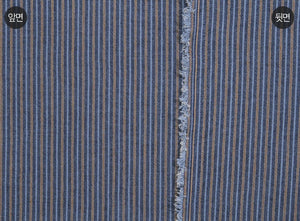 byhands 100% Cotton Yarn Dyed Fabric, New-tro Style Checkered Pattern, Blue Heaven (EY20095-F)