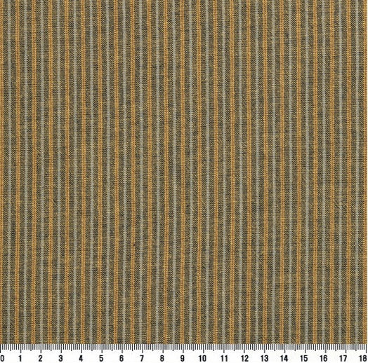 byhands 100% Cotton Yarn Dyed Fabric, New-tro Style Checkered Pattern, Mustard Gold (EY20095-J)