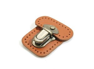 byhands Bag Closure Catch Tuck Lock Clasp, Genuine Leather, 1.96""