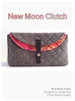 [DIY Bag Pattern] New Moon Clutch