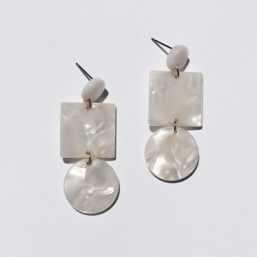 Totem Earrings in Ivory