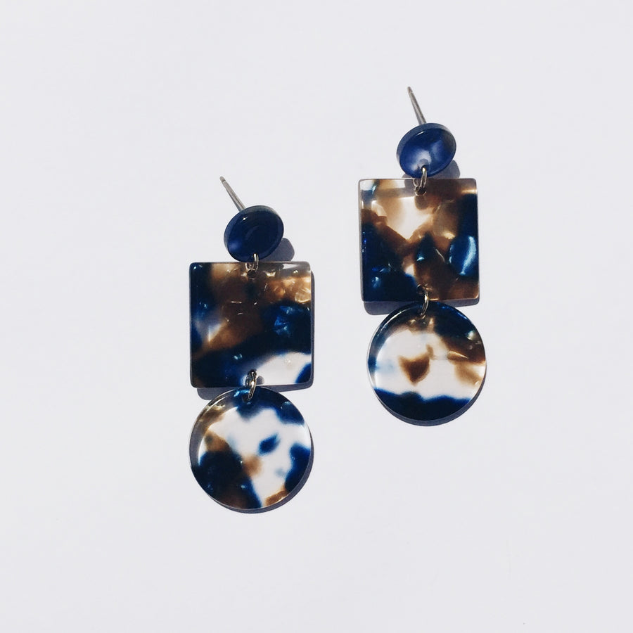 Totem Earrings in Pacific