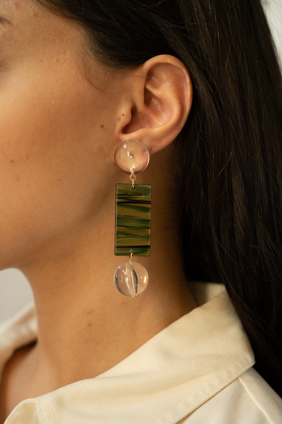 Viv Earrings in Juniper