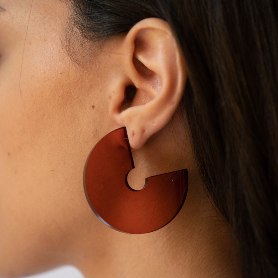 Dara Chunky Hoops in Jam
