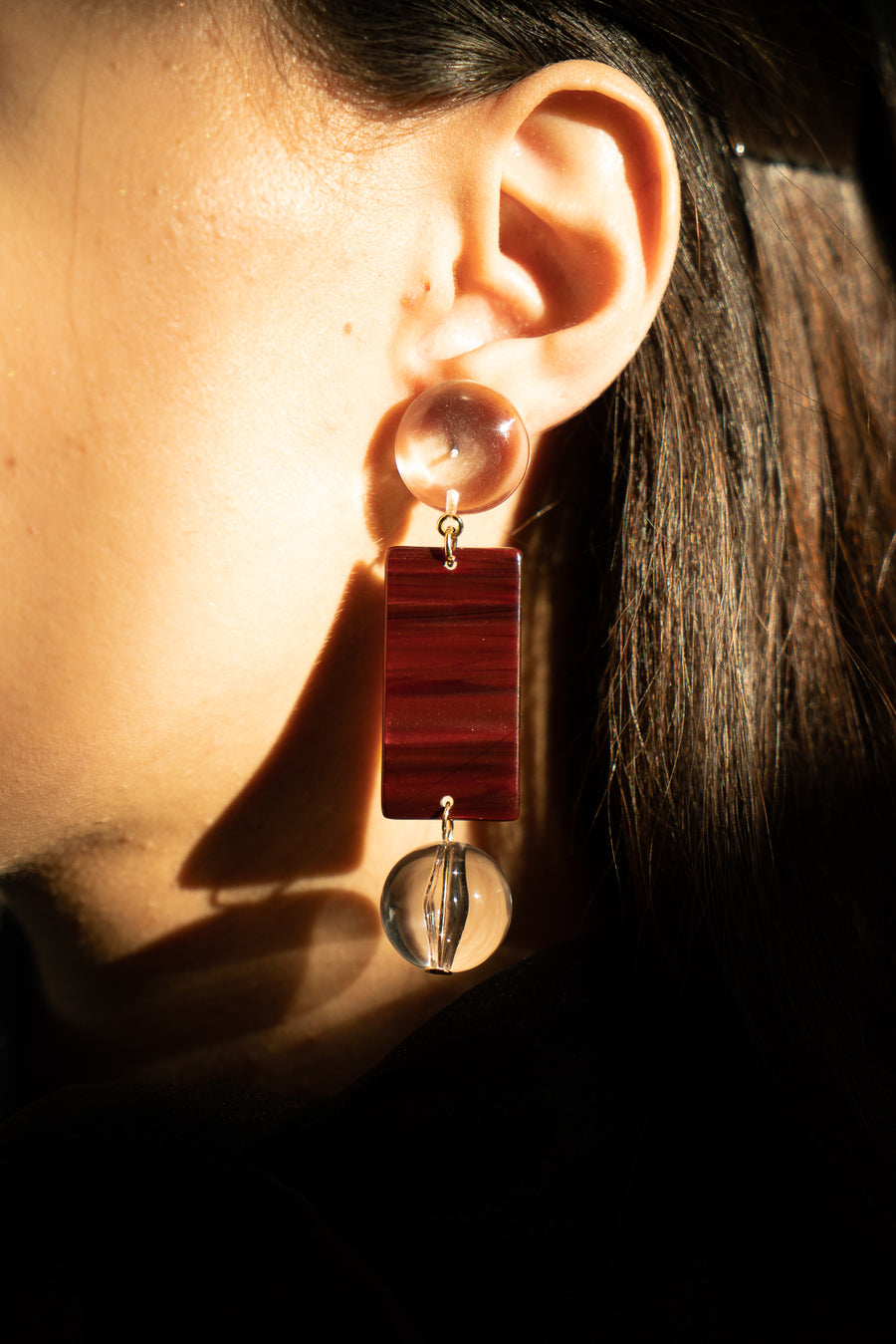 Viv Earrings in Crimson