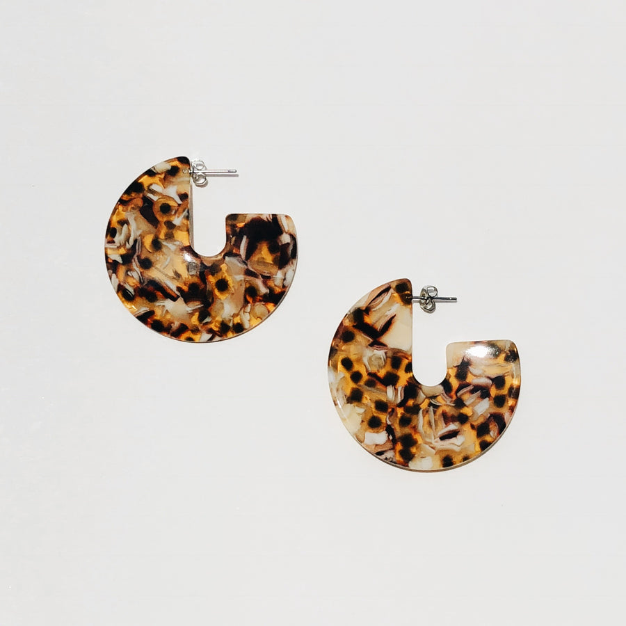 Kat Earrings in Amber Tortoise