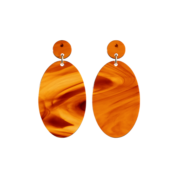 Our favorite sophisticated drop-down earrings in the bold rust-hued Jupiter colorway.
