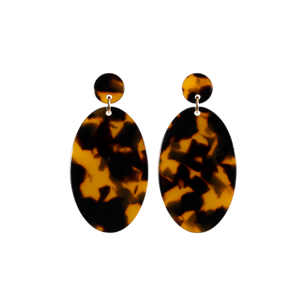 Our favorite sophisticated drop-down earrings in the timeless Classic Tortoise colorway.