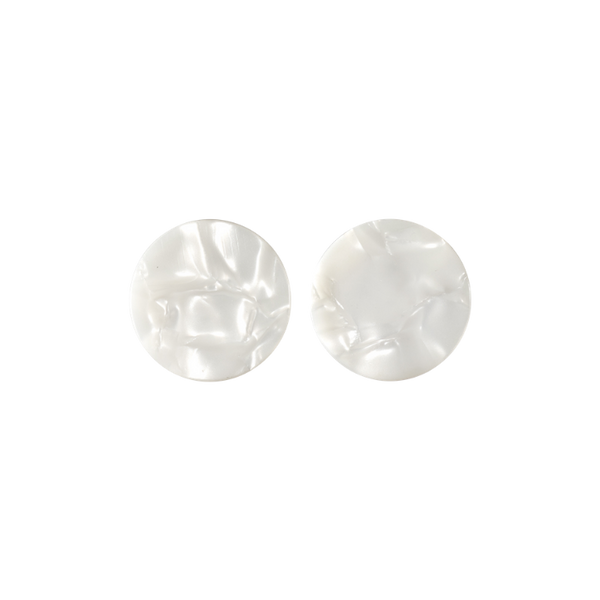 Pearlescent stud earrings for a monochromatic feel to your ensemble.