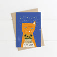 Vincent Van Gogh Cat Card