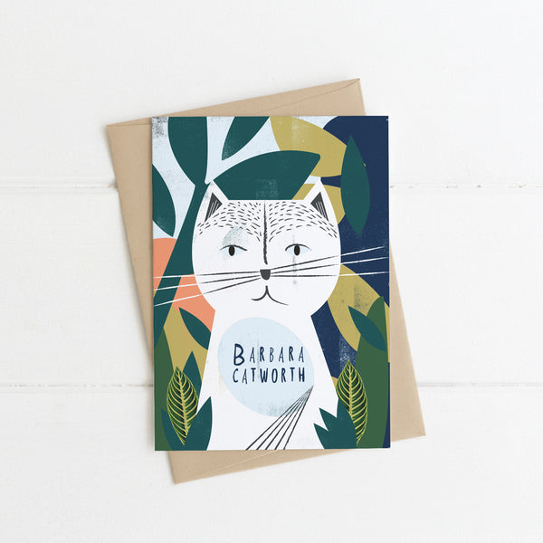 Barbara Catworth Cat Card