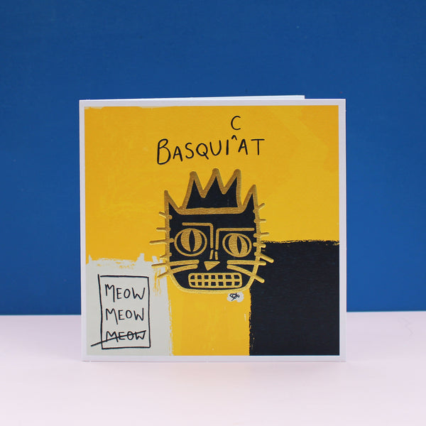 Basquicat (Jean Michael-Basquiat) Cat Card