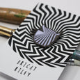 Bridget Riley Artist Cat Enamel Pin