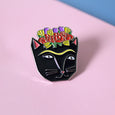 Frida Catlo Cat Enamel Pin