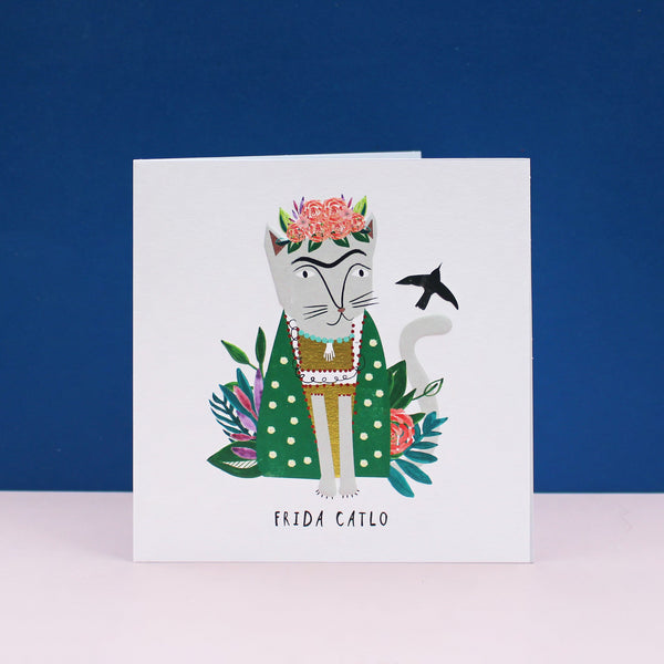 Frida Catlo (Kahlo) Cat Card