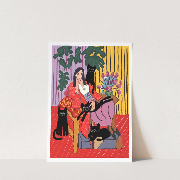 The Cat Lady Print