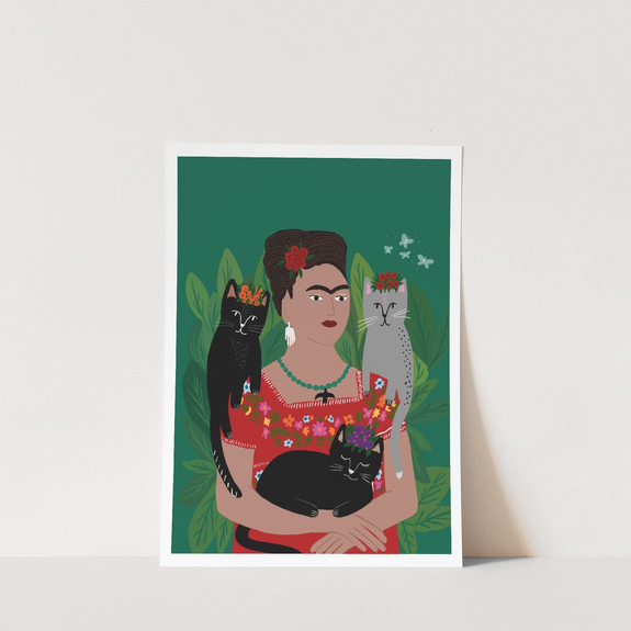 Frida and her Catlo's Print