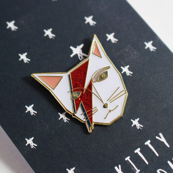 Kitty Stardust Cat Enamel Pin