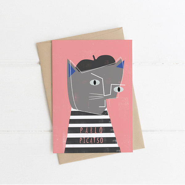 Pablo Picatso Cat Card