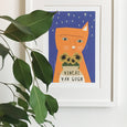 Vincent Van Gogh Cat Print