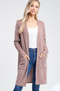 Beautiful Mocha Chenille Cardigan