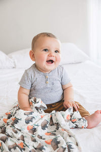 Bison Knit Blanket Swaddle