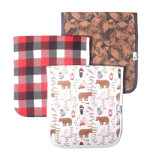 Lumberjack Burp Cloth Set - 3 Pack