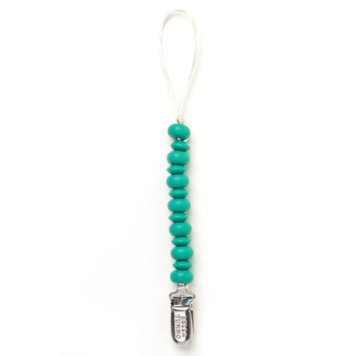 Teal Pacifier Clip by Bella Tunno