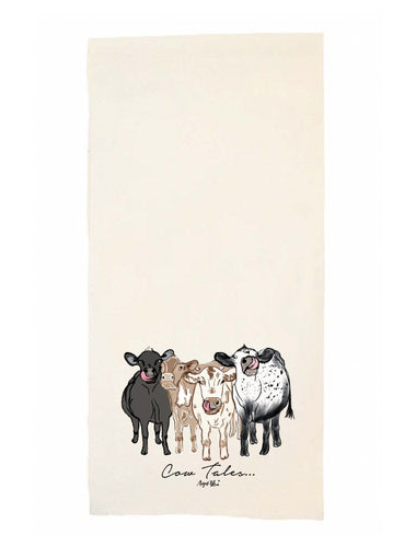 Cow Tales Tea Towel