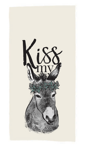 Kiss My Donkey Tea Towel