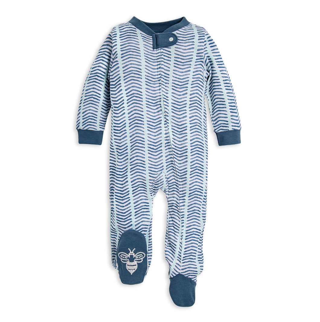 Watercolor Chevron Sleep & Play Footed Sleeper