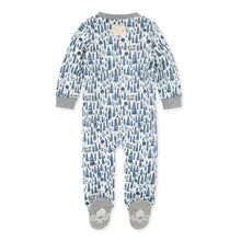 Cozy Pine Cabin Organic Baby Zip Front Loose Fit Pajamas