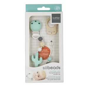 SiliBeads Silicone Pacifier Clip- Cactus