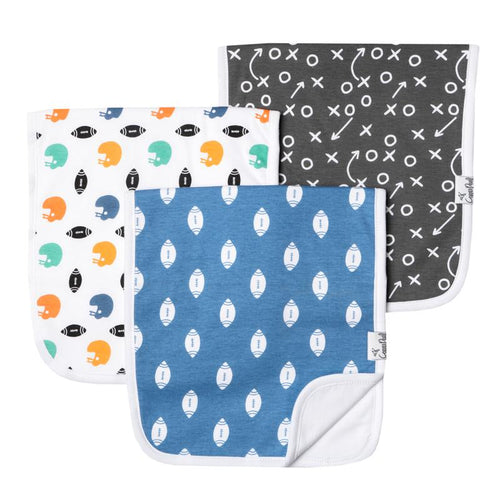Quarterback Burp Cloth Set - 3 Pack