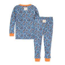 Forest Frenzy Tee and Pant PJ Set - Carrot