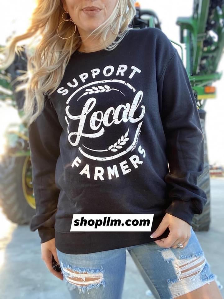 Support Local Farmers Sweater Black