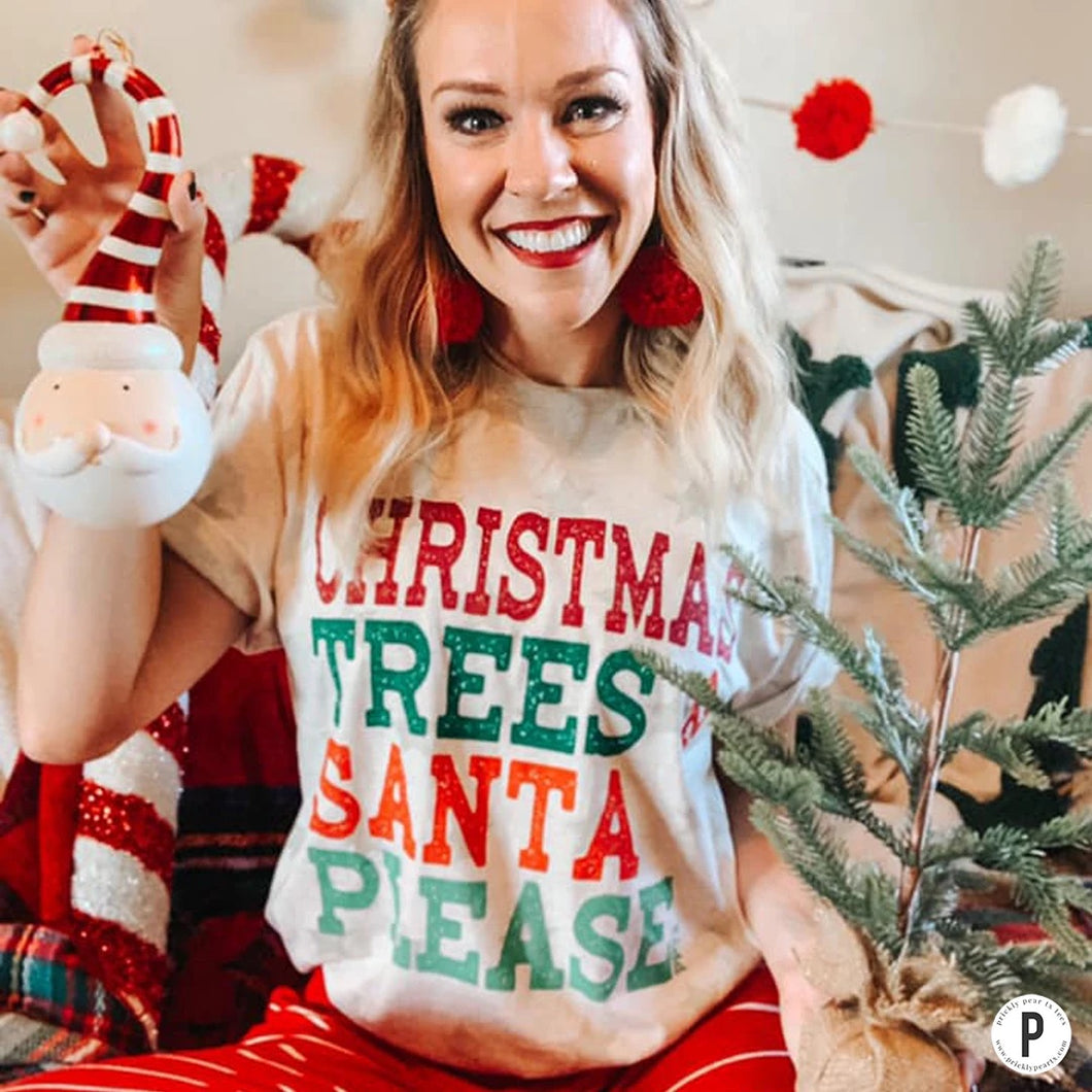 Christmas Trees & Santa Please Tee