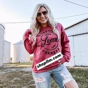 Support Local Farmers Sweater Scarlet