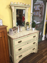 Chippy Antique Dresser & Mirror
