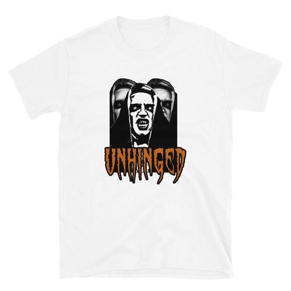 UNHINGED HAUNTED NUN T-SHIRT (White)