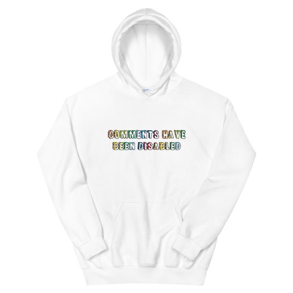 BENJI COMMENTS HAVE BEEN DISABLED HOODIE (White)