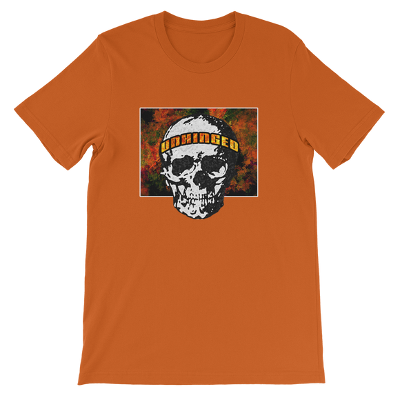 UNHINGED FIRE SKULL T-SHIRT (Burnt Orange)