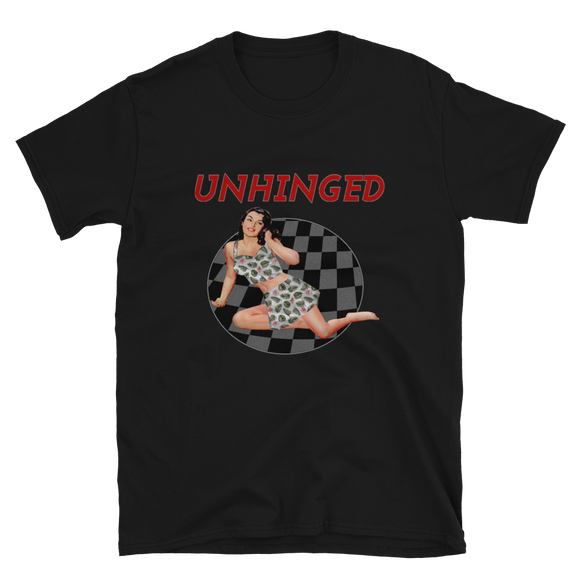 UNHINGED SIMPLE PIN UP T-SHIRT (Black)
