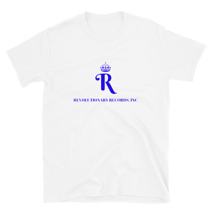REVOLUTIONARY RECORDS T-SHIRT (White/Blue)